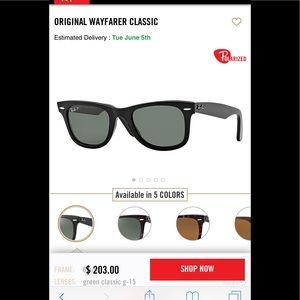 Ray Ban Original Wayfarer Polarized Sunglasses